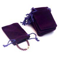 Custom jewelry gift drawstring velvet pouch 3