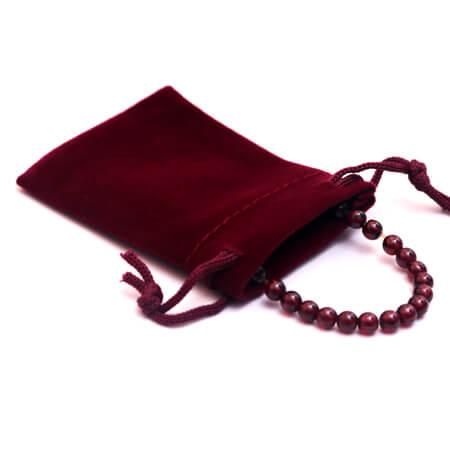 Custom jewelry gift drawstring velvet pouch 4