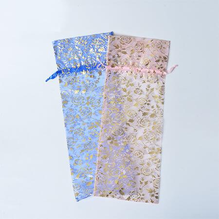 Custom wine organza bag eco-friendly 2