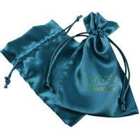 Drawstring satin silk pouch gift bag 1