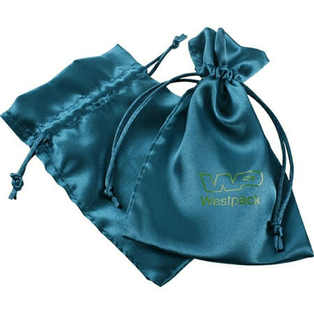 Drawstring satin silk pouch gift bag 1