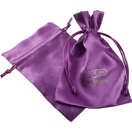 Drawstring satin silk pouch gift bag 4