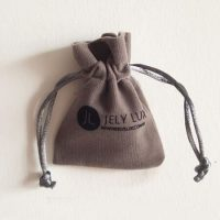 Drawstring velvet pouch with Logo 5