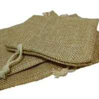 Natural linen favor bags small size 3