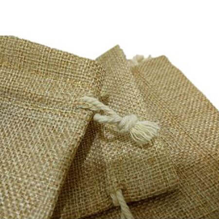 Natural linen favor bags small size 4