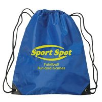 Polyester waterproof drawstring sports backpack bag 1