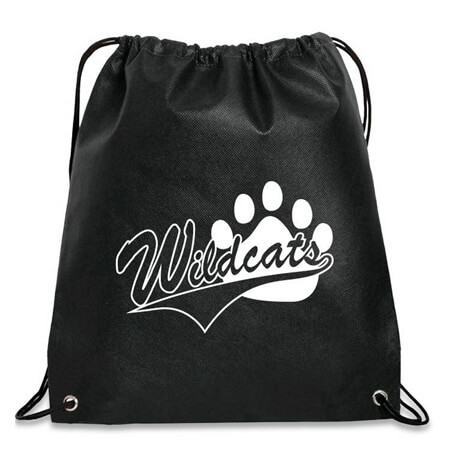 Polyester waterproof drawstring sports backpack bag 2
