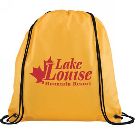 Polyester waterproof drawstring sports backpack bag 4