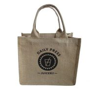 Promotional handle jute shopping bag 1