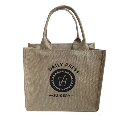 Promotional handle jute shopping bag 1