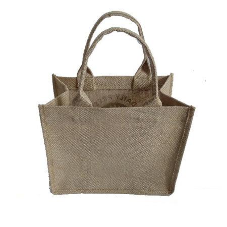 Promotional handle jute shopping bag 2