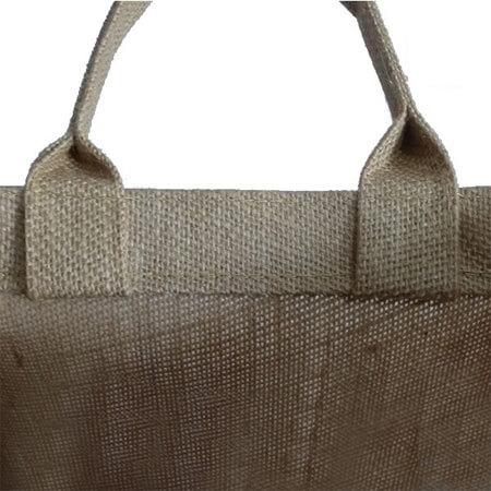 Promotional handle jute shopping bag 4