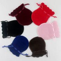 Velvet drawstring bell pouch 1