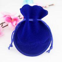 Velvet drawstring bell pouch 2