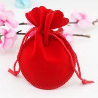 Velvet drawstring bell pouch 3