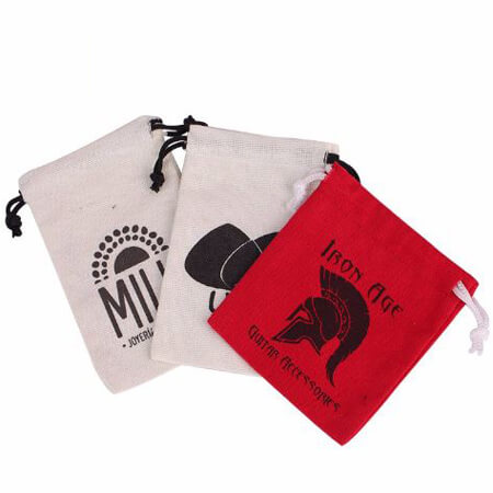 nature cotton canvas bag with logo printed 2