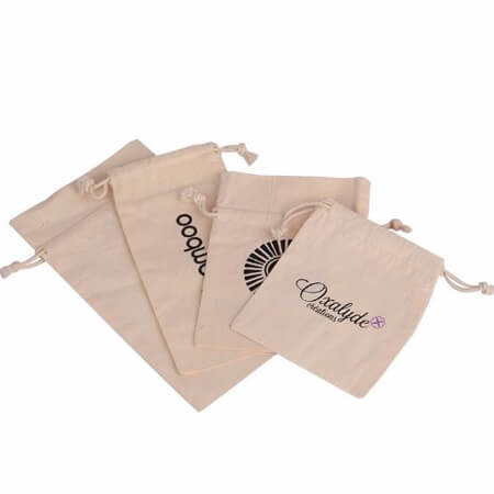 nature cotton canvas bag with logo printed 3