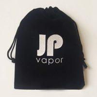 Black velvet bag with printed Logo 3