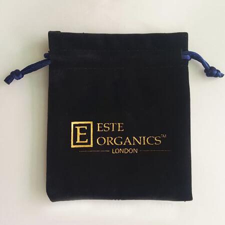 Black velvet drawstring gift bag 2