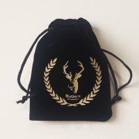 Black velvet drawstring gift bag 3