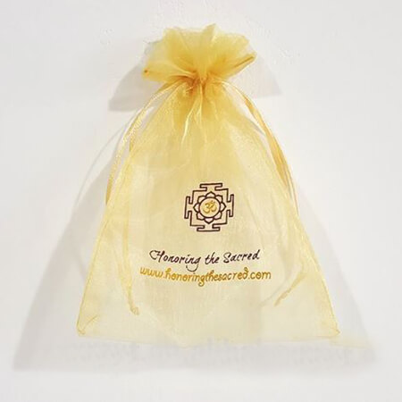 Cheap printed organza bags with ribbon 1