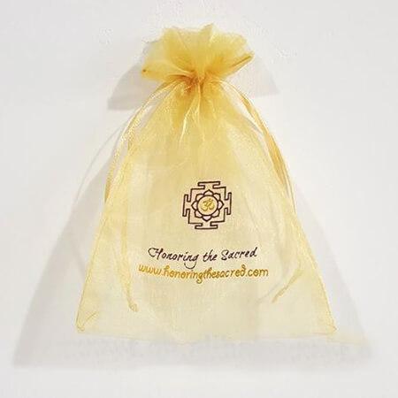 Cheap printed organza bags with ribbon 1