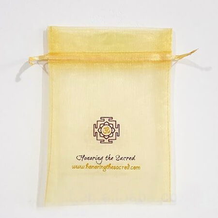 Cheap printed organza bags with ribbon 2