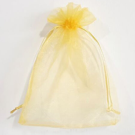 Cheap printed organza bags with ribbon 3