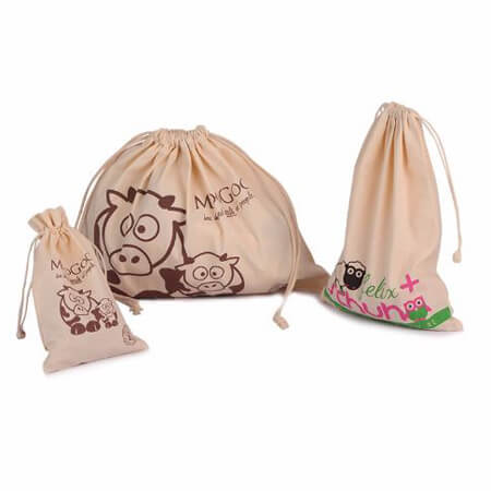 Cotton canvas gift bag with drawstring 1