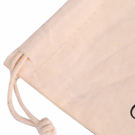 Cotton canvas gift bag with drawstring 4