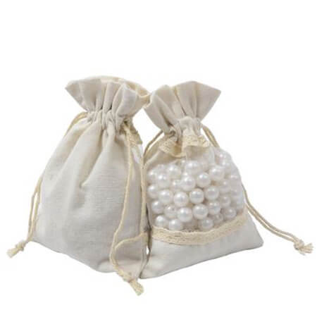 Cotton drawstring bags with window 2