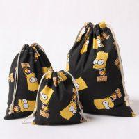 Cotton linen drawstring bag custom size 3