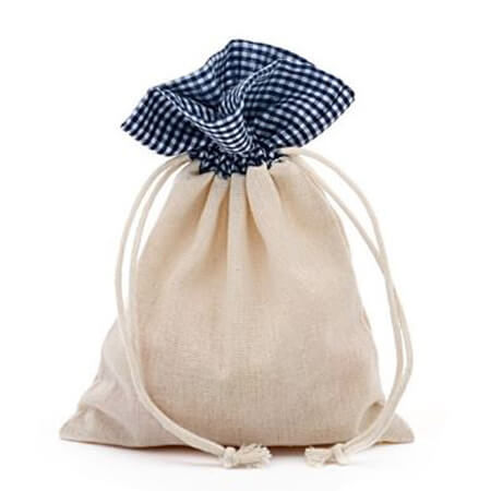 Custom cotton drawstring pouches 1