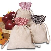 Custom cotton drawstring pouches 2