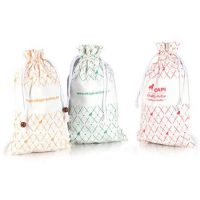 Custom cotton wine bottle bags 1