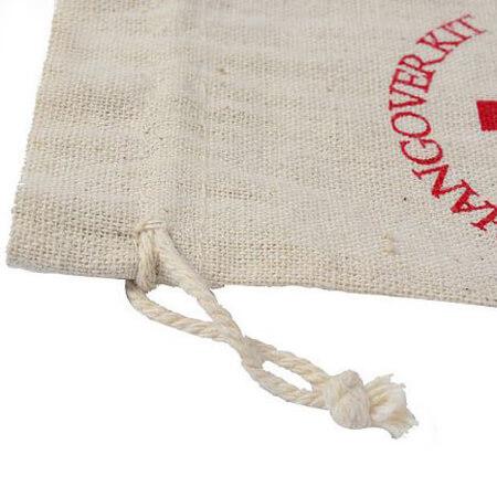 Custom linen drawstring bag 3