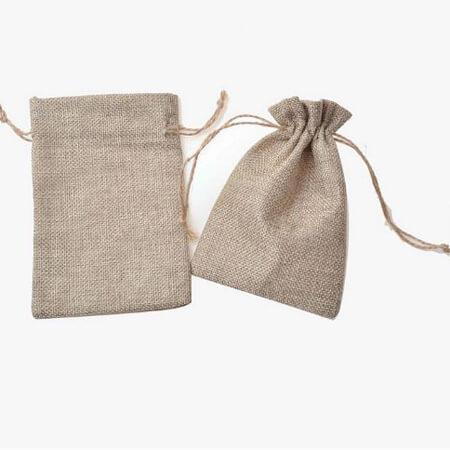 Custom linen drawstring bag 4