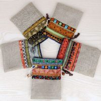 Custom linen drawstring pouch 2