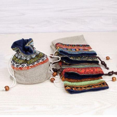 Custom linen drawstring pouch 3