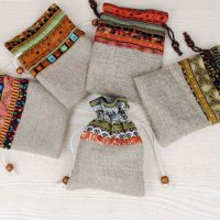 Custom linen drawstring pouch 4