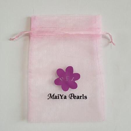 Custom organza pearls pouch 2