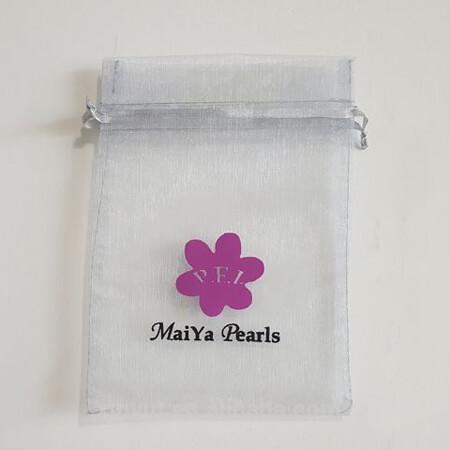 Custom organza pearls pouch 3