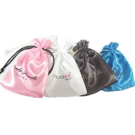 Custom silk bag with printed logo 1