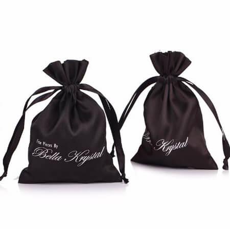 Custom silk bag with printed logo 4