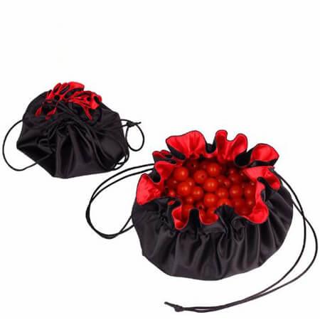 Elegant round satin jewelry bags 1