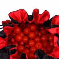 Elegant round satin jewelry bags 2