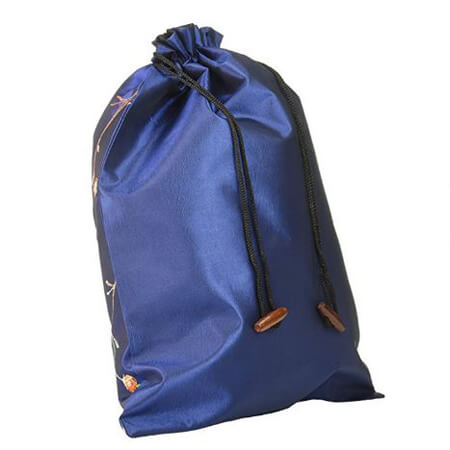 Embroidery silk satin drawstring bag 2
