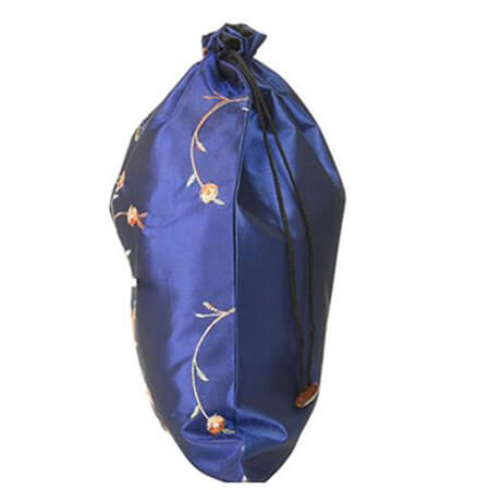 Embroidery silk satin drawstring bag 3
