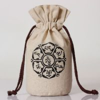 Linen bag round bottom rice wheat bag 1