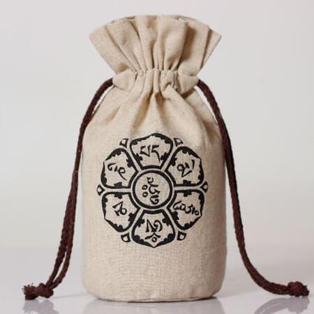 Linen bag round bottom rice wheat bag 1